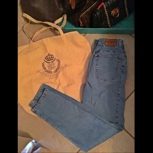 Vintage Ralph Lauren High Rise Jean W Tan Bag